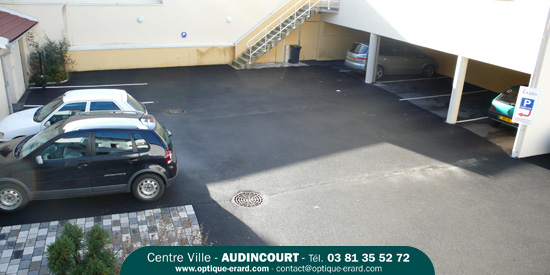 vue du parking optique erard